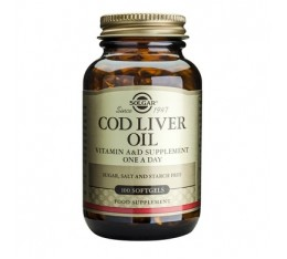 Solgar - Cod Liver Oil / 100 softgels. Хранителни добавки, Мастни киселини, Рибено масло