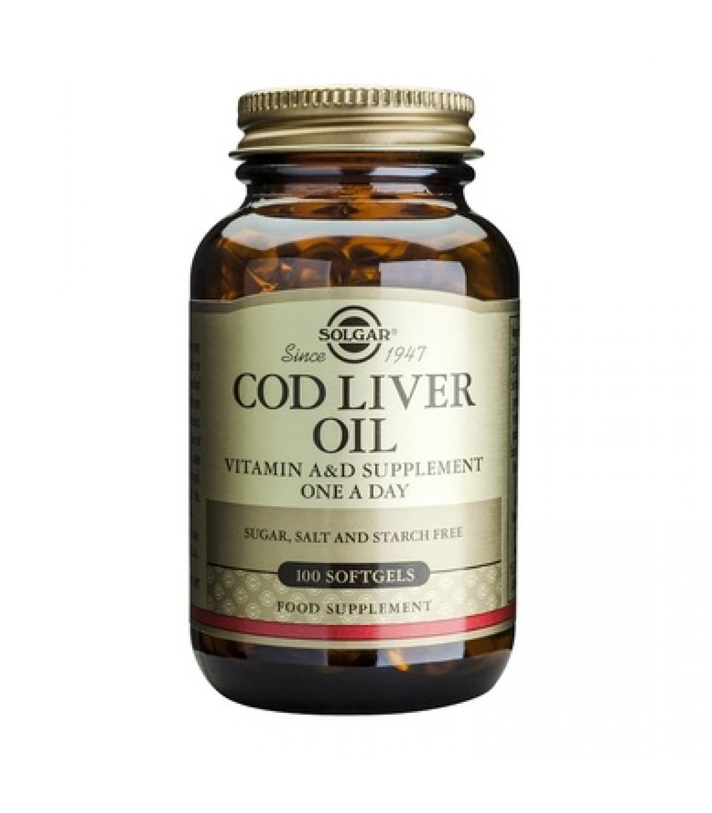 Solgar - Cod Liver Oil / 100 softgels.