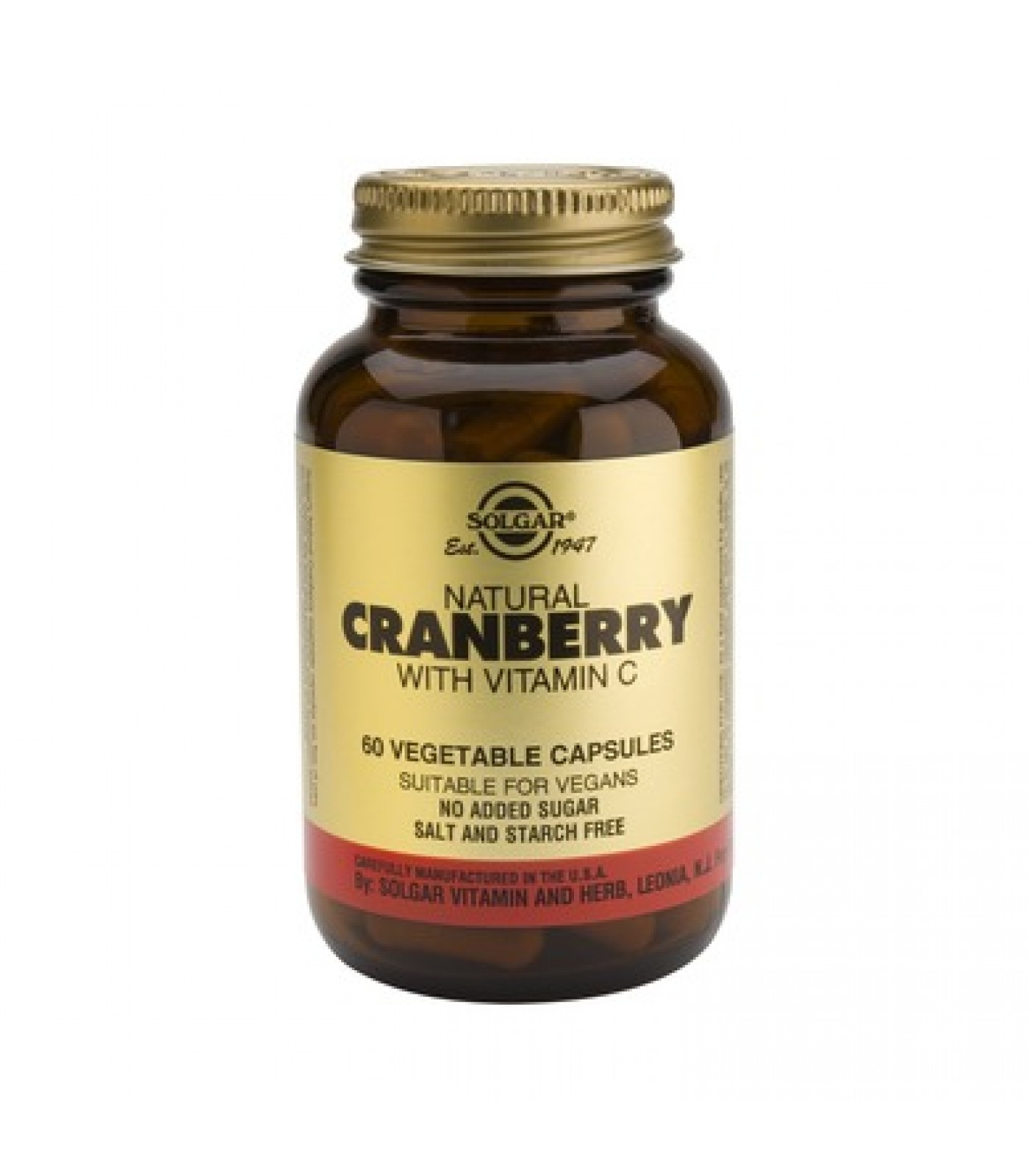 Solgar - Cranberry Extract with Vitamin C / 50 caps.​