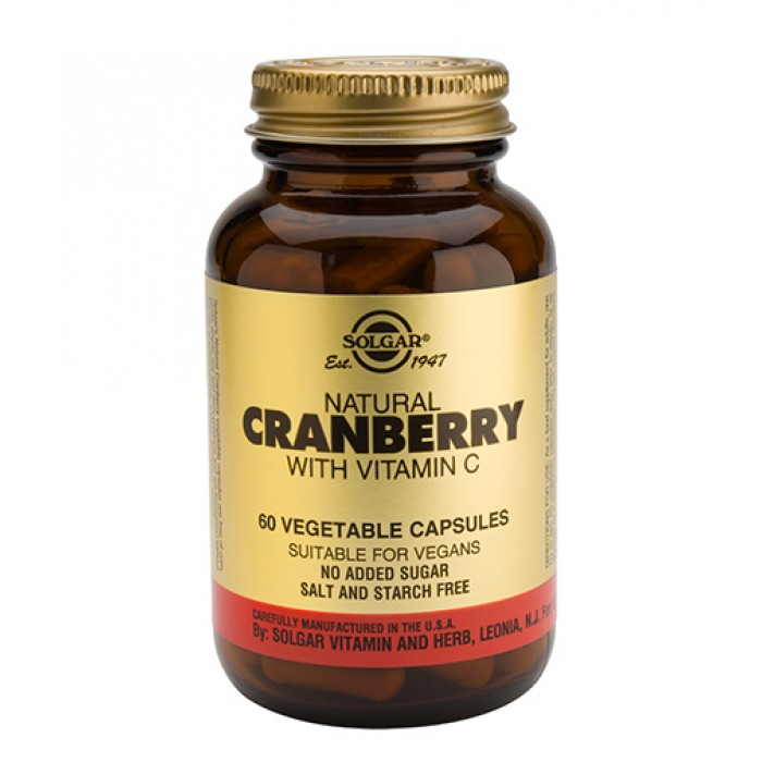 Solgar - Cranberry with Vitamin C / 60 Vcaps.​