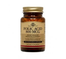 Solgar - Folic Acid 800 mg / 100 tabs. Хранителни добавки, Витамини, минерали и др., Витамин B