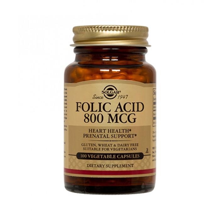 Solgar - Folic Acid 800 mg / 100 tabs.