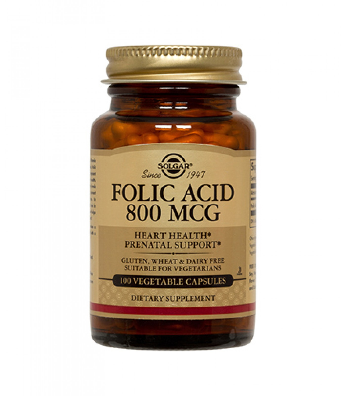 Solgar - Folic Acid 800 mg / 100 tabs.​