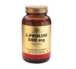 Solgar - L-Proline 500mg / 100 Vcaps. Хранителни добавки, Аминокиселини, Аргинин