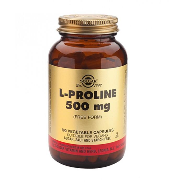 Solgar - L-Proline 500mg / 100 Vcaps.