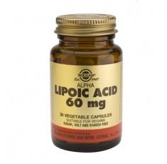 Solgar - Alpha Lipoic Acid 60mg. / 30 caps. Хранителни добавки, Антиоксиданти, Витамини, минерали и др.