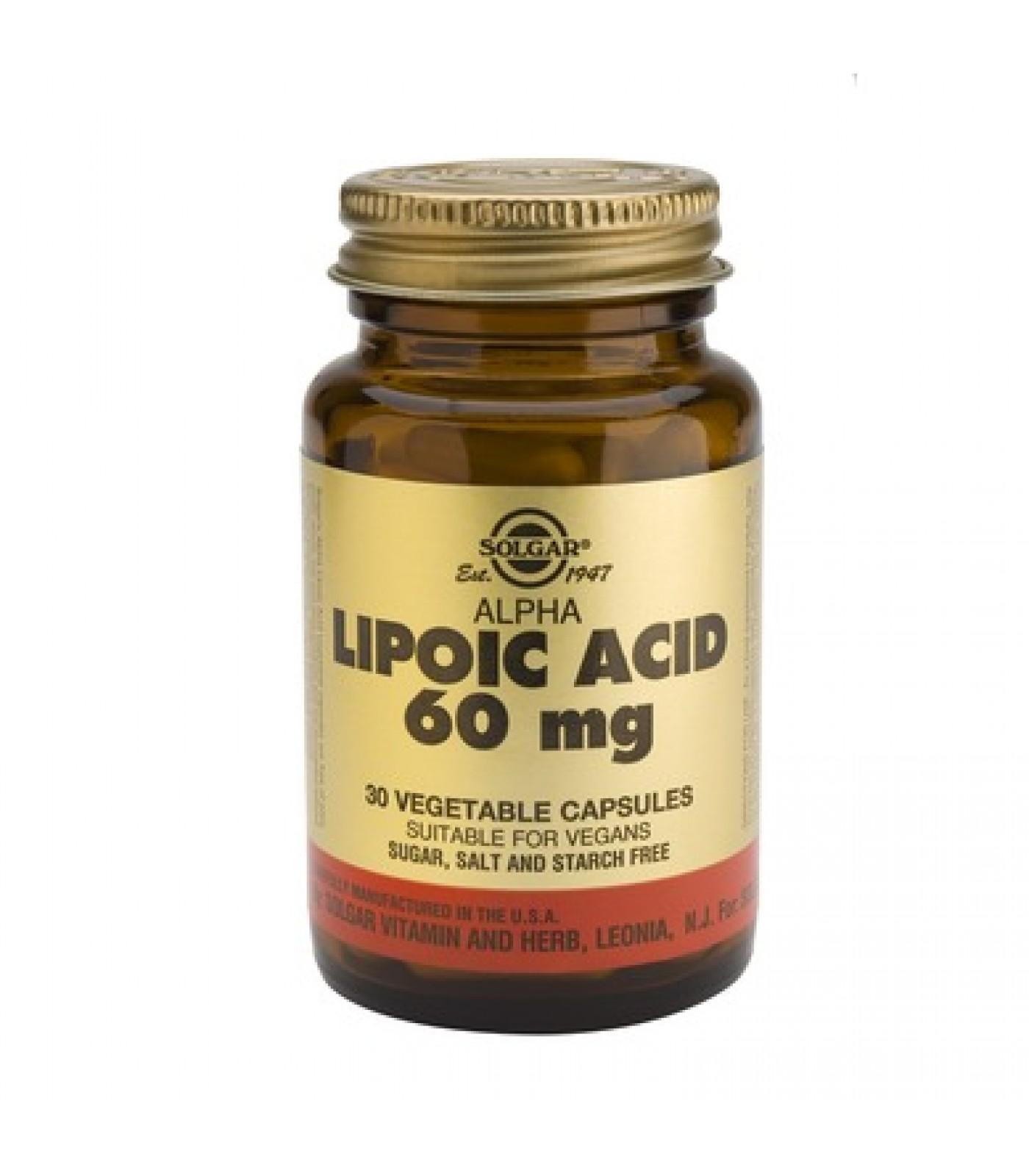 Solgar - Alpha Lipoic Acid 60mg. / 30 caps.