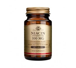 Solgar - Niacin 100mg / 100 tabs. Хранителни добавки, Витамини, минерали и др., Витамин B