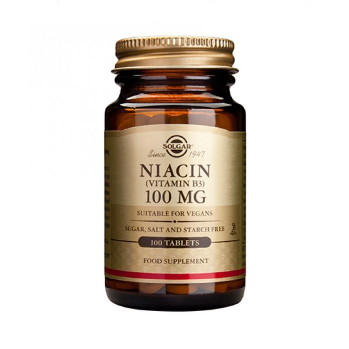 Solgar - Niacin 100mg / 100 tabs.