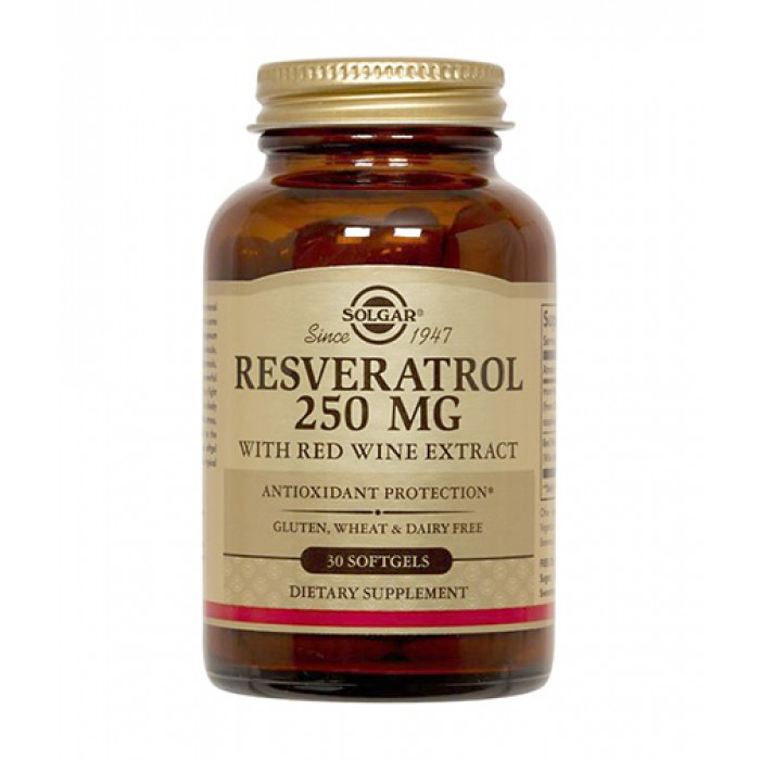 Solgar - Resveratrol 250mg / 30 Softgels​