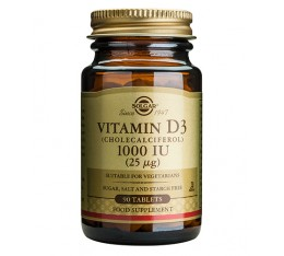 Solgar - Vitamin D-3 1000 IU / 90 softgels​