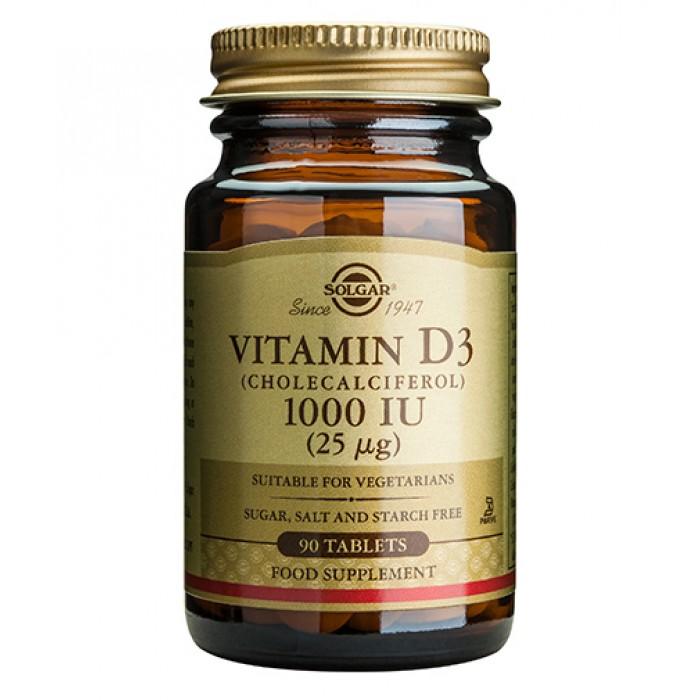 Solgar - Vitamin D-3 1000 IU / 90 softgels
