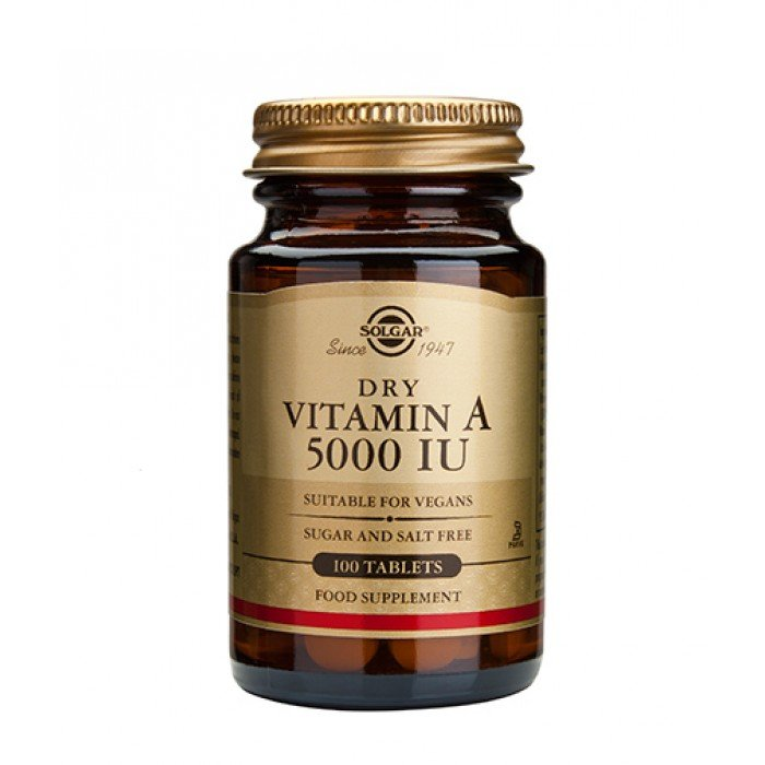 Solgar - Vitamin A 5000 IU dry tabs / 100 Tabs.