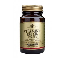 Solgar - Vitamin E 200IU / 50 Softgels Хранителни добавки, Витамини, минерали и др., Витамин C, Витамин E