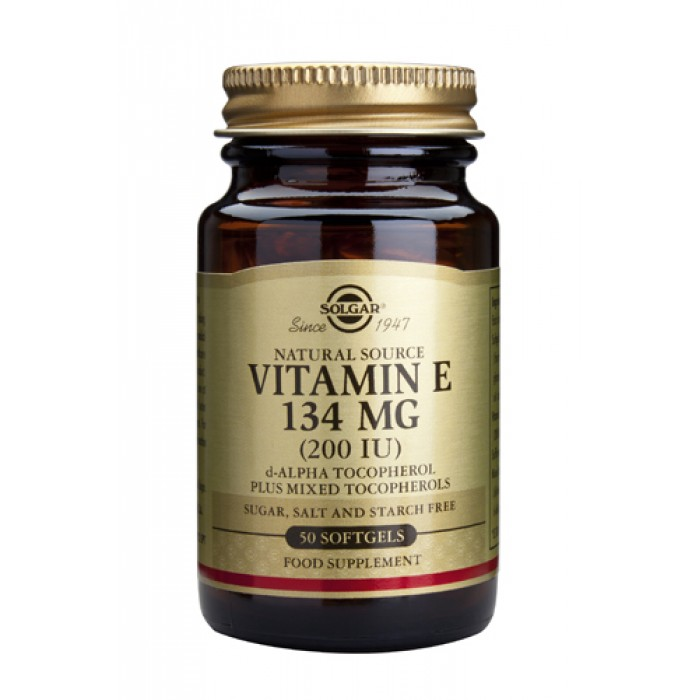 Solgar - Vitamin E 200IU / 50 Softgels​
