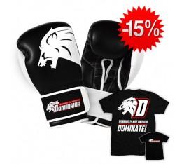 Stack Dominator - Боксови ръкавици / Lion (естествена кожа) + Тениска - Dominate