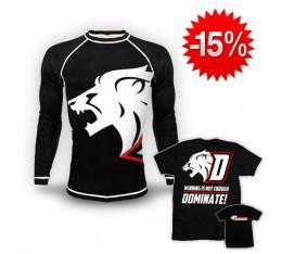 "Stack Dominator -  Dominator - Рашгард ""Lion"" + Тениска - Dominate"