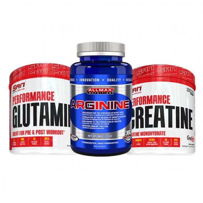 STACK обем и възстановяване -  Creatine + Glutamine + Arginine