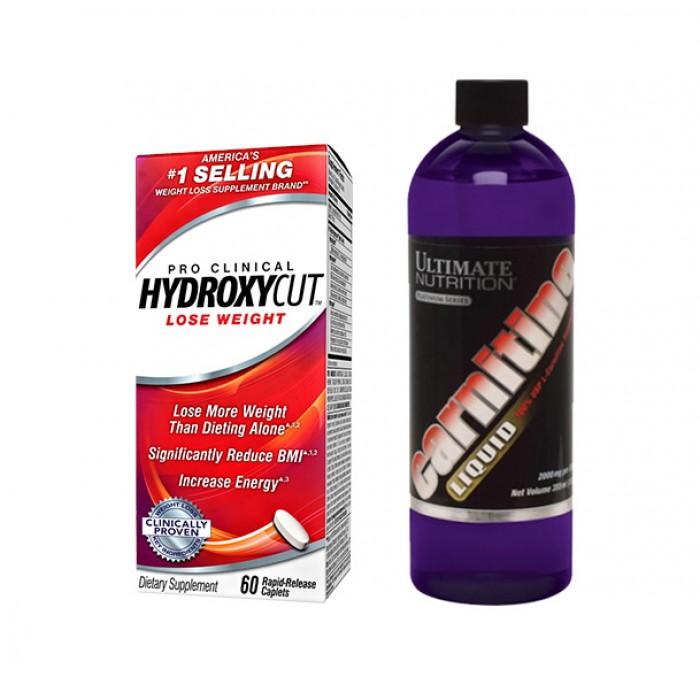 STACK Отслабване -  Liquid L-carnitne + Hydroxycut