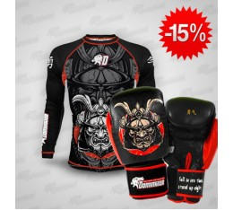 Stack Dominator - Рашгард / Samurai + Dominator - Боксови ръкавици / Samurai Бойни спортове и MMA, Боксови ръкавици, СТАКОВЕ