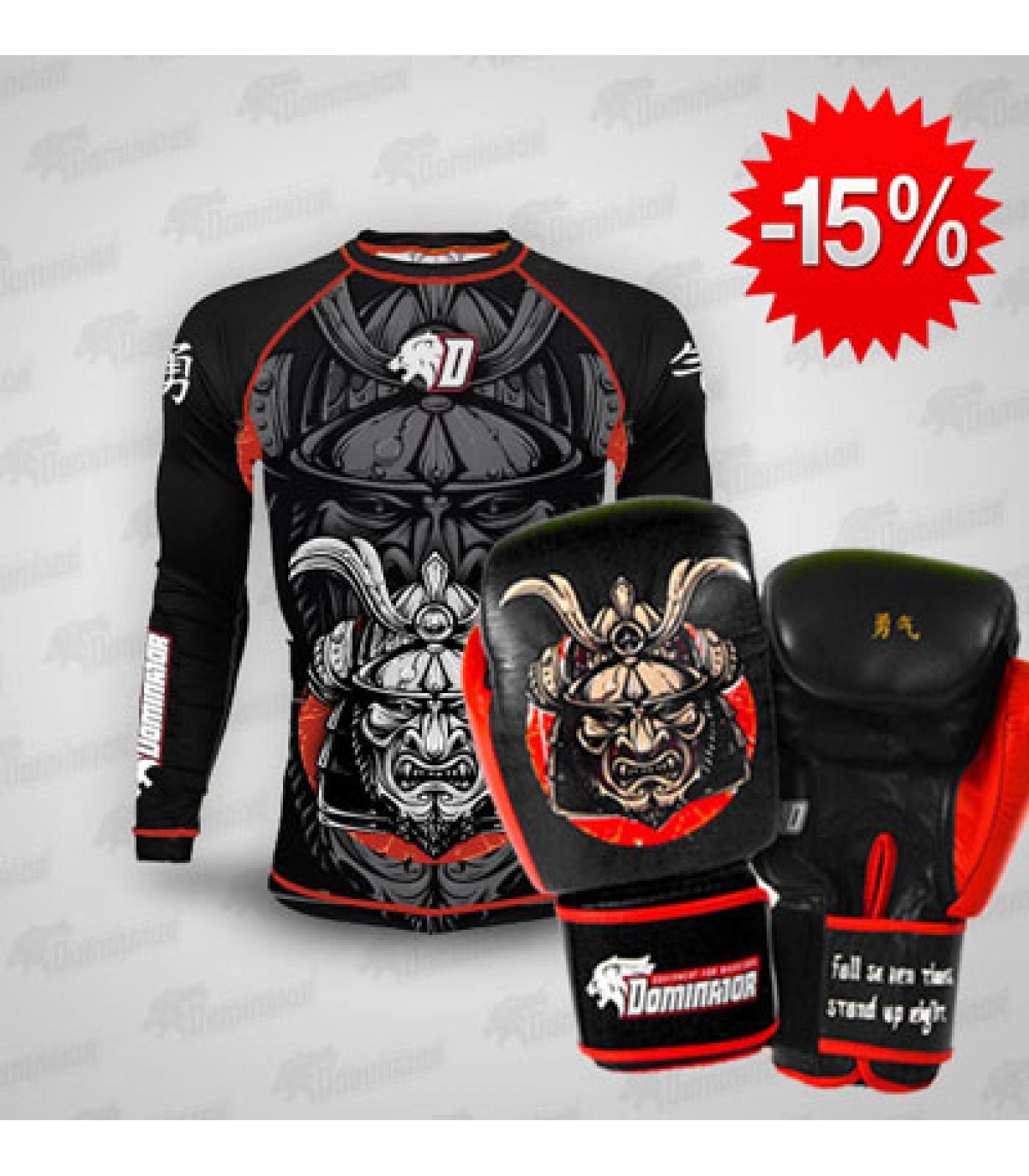 Stack Dominator - Рашгард / Samurai + Dominator - Боксови ръкавици / Samurai