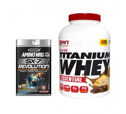 STACK Възстановяване - Pure Titanium Whey + Amino NRG SX-7