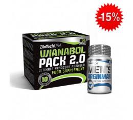Stack BioTech - Wianabol Pack 2.0 + BioTech - Men's ArginMax / 90 caps Хардкор продукти, Трибулус-Терестрис, СТАКОВЕ, Хранителни добавки на промоция