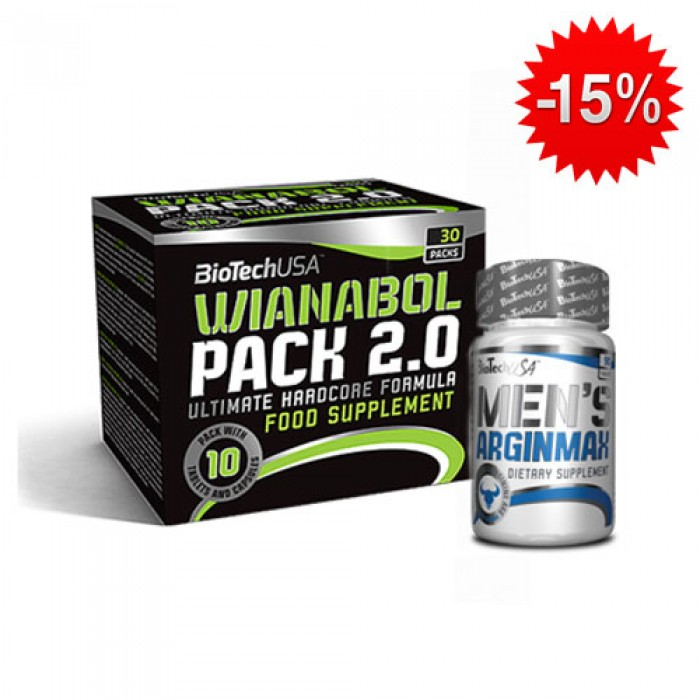 Stack BioTech - Wianabol Pack 2.0 + BioTech - Men's ArginMax / 90 caps