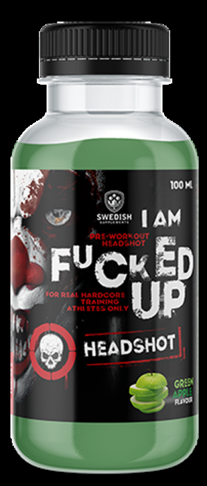 SWEDISH Supplements - I am F#CKED UP Headshot / Shot