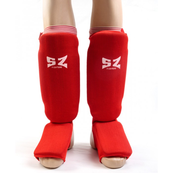 SZ Fighters - Протектор за крака (Памучни / червени)