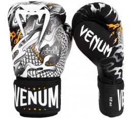 Боксови Ръкавици - Venum Dragon's Flight Boxing Gloves - Black/White Боксови ръкавици