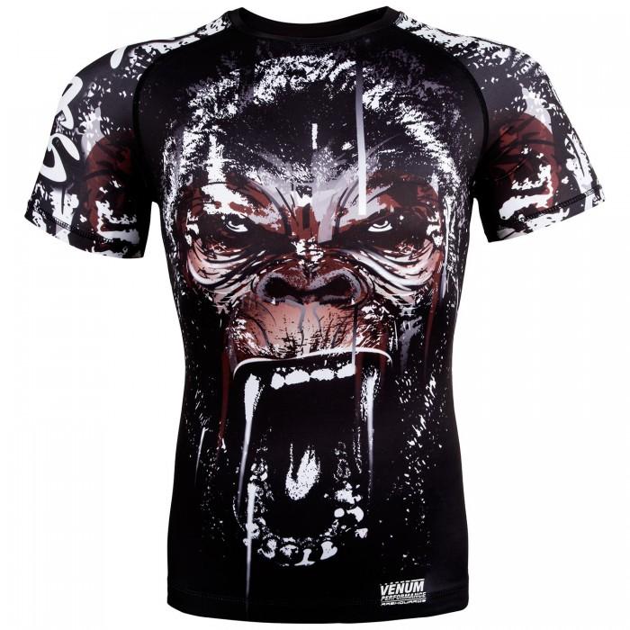 Рашгард - Venum Gorilla Rashguard - Short Sleeves - Black