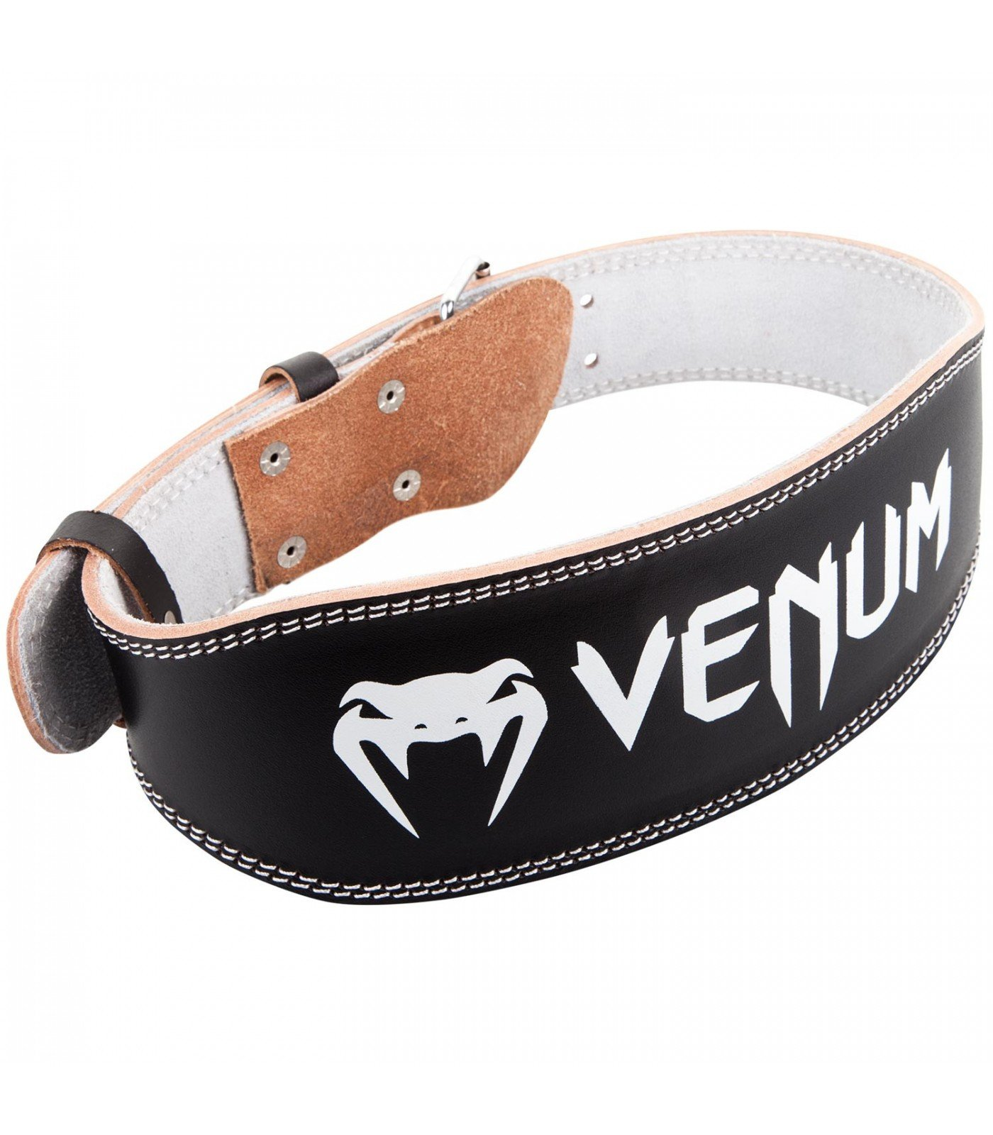 Колан за Фитнес - VENUM HYPERLIFT LEATHER LIFTING BELT - BLACK​