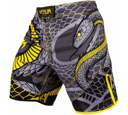 Шорти - Venum Snaker Fightshorts - Black/Yellow​
