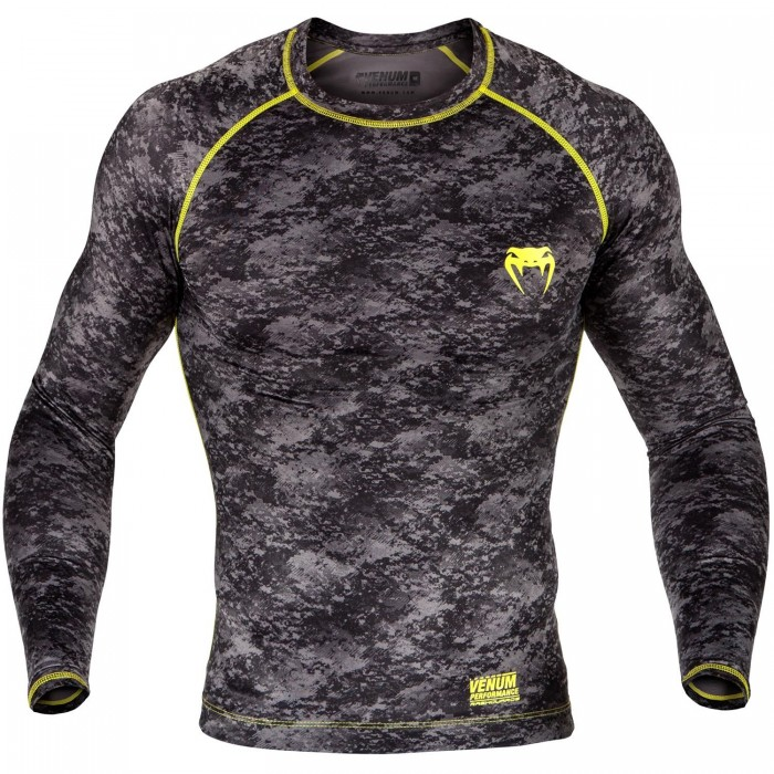 Рашгард - Venum Tramo Rashguard - Long Sleeves - Black/Yellow