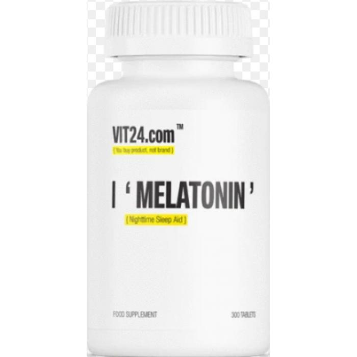 VIT24 - Melatonin 1 mg / Nighttime Sleep Aid / 300 tab
