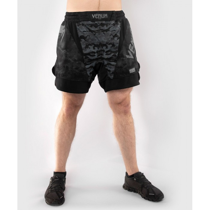 Шорти - Venum Defender Fightshort - Dark camo​