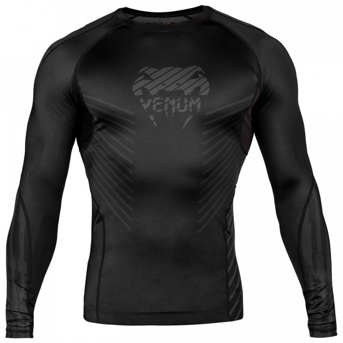 Рашгард - Venum Plasma Rashguard - Long Sleeves - Black/Black​