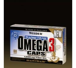 Weider - Omega 3 1000mg / 60 Caps. Хранителни добавки, Мастни киселини, Рибено масло