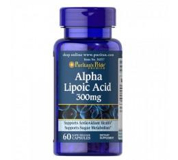 Puritan's Pride - Alpha Lipoic Acid 300 mg / 60caps. Хранителни добавки, Алфа-Липоева киселина