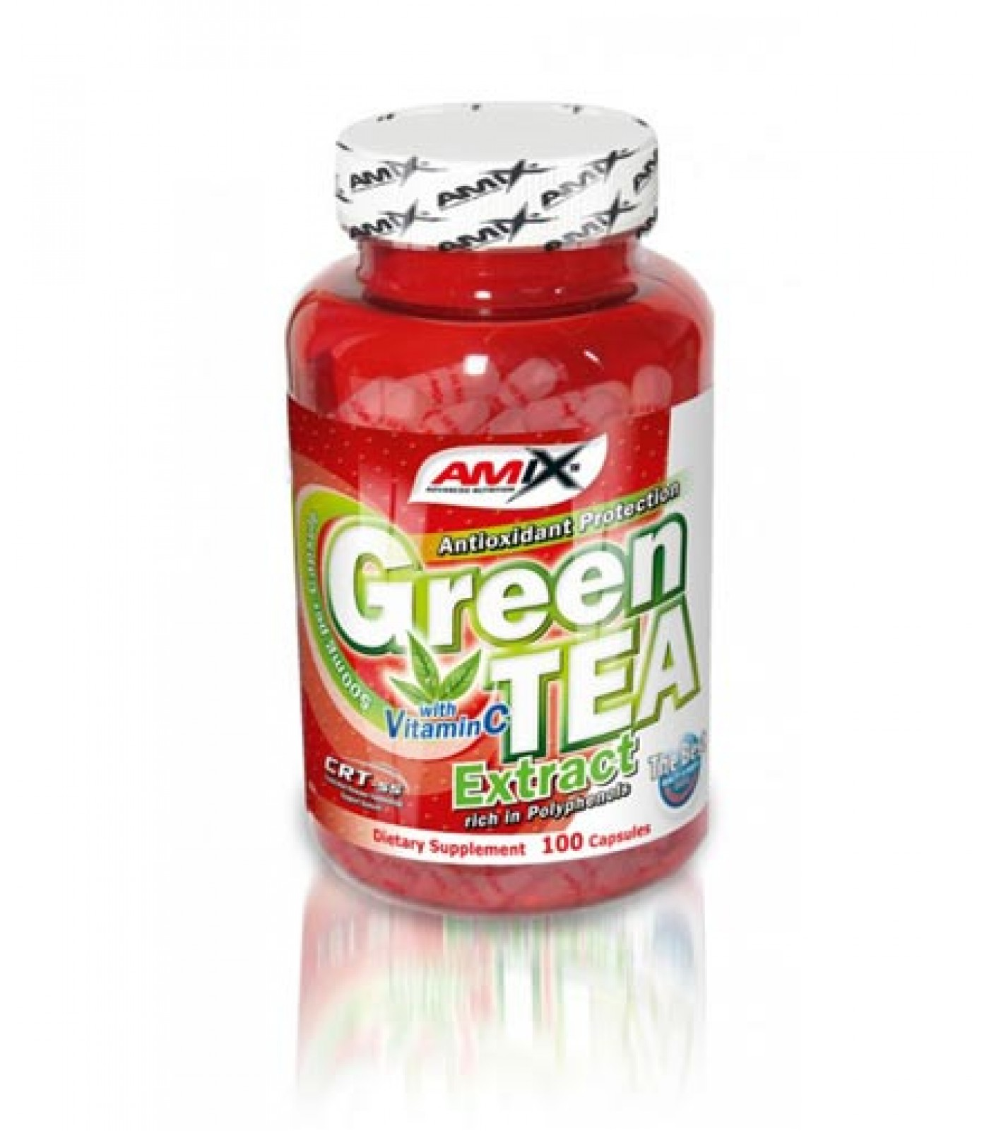 Amix - Green Tea Extract with Vitamin C / 100 caps.