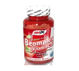 Amix - Vitamin B-Complex + Vitamin C & E / 90tabs. Хранителни добавки, Витамини, минерали и др., Витамин B, Витамин C, Витамин E