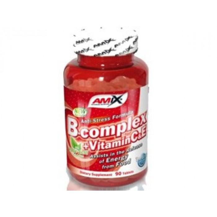 Amix - Vitamin B-Complex + Vitamin C & E / 90tabs.