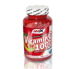 Amix - Vitamin C (with Rose Hips) / 100caps x 1000mg. Хранителни добавки, Витамини, минерали и др., Витамин C