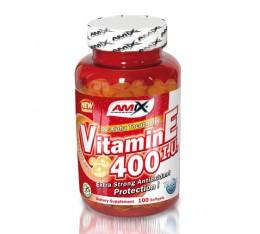 Amix - Vitamin E 400 IU / 100tabs. Хранителни добавки, Витамини, минерали и др., Витамин E