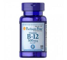 Puritan's Pride - Vitamin B-12 / 500 мкг  - 100 таблетки