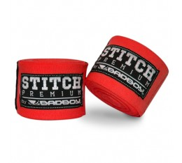 Бинтове за бокс - BAD BOY STITCH PREMIUM HAND WRAPS / RED​ / 5 m.