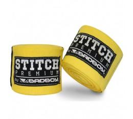 Бинтове за бокс - BAD BOY STITCH PREMIUM HAND WRAPS / YELLOW Бинтове
