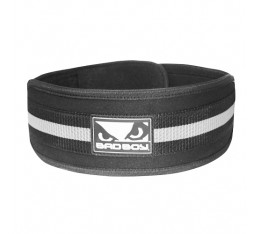 Колан за тежести - BAD BOY 4 INCH LIFTING BELT / BLACK - GREY​