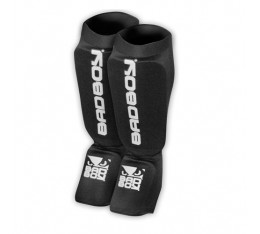 Протектори за крака - BAD BOY MATERIAL SHIN GUARDS - Black